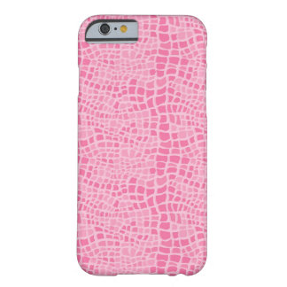 Pink Snakeskin Pattern Barely There iPhone 6 Case