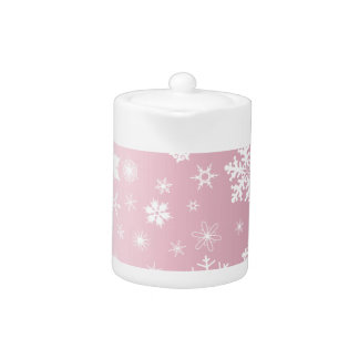 Pink Snowflake Background