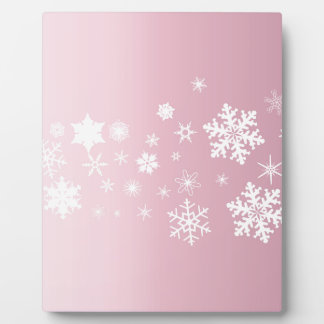 Pink Snowflake Background Plaque