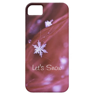 Pink Snowflake iPhone 5 Covers