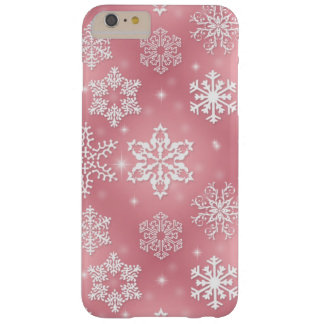 Pink snowflake iPhone 6 plus barely there case