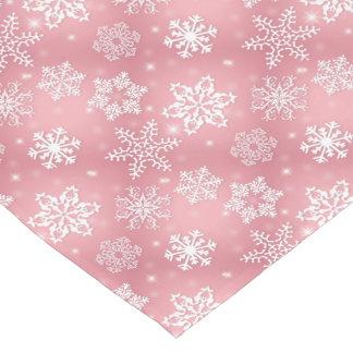 Pink snowflake pattern Christmas table runner