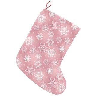 Pink snowflake pattern Holiday Christmas stocking