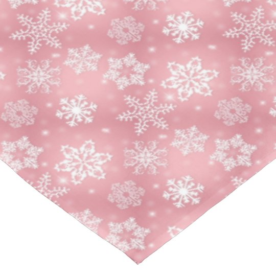 Pink snowflake pattern Holiday tablecloth