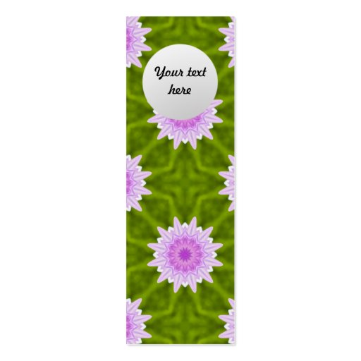 Pink Snowflakes Custom Bookmark Business Card