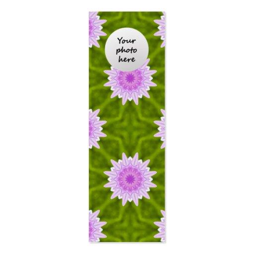 Pink Snowflakes Custom Bookmark Business Card Templates