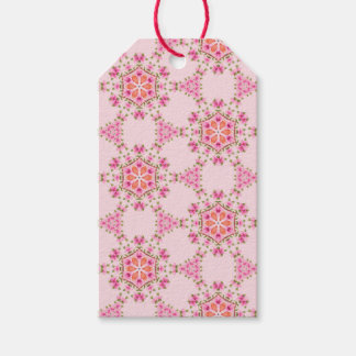 Pink Snowflakes Gift Tags