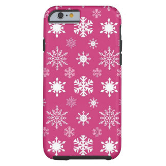 Pink Snowflakes iPhone 6 Case