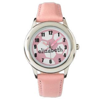 Pink Soccer Ball Watch