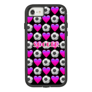 Pink Soccer Emoji  iPhone 7, Tough Xtreme Case