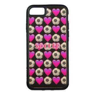 Pink Soccer Emoji iPhone 7 Wood Case