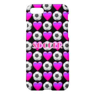 Pink Soccer Emoji iPhone 8/7 Glossy Case