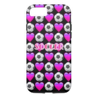Pink Soccer Emoji iPhone 8/7 Phone Case