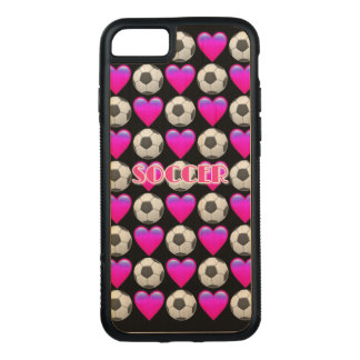Pink Soccer Emoji iPhone 8/7 Wood Case