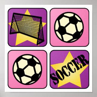 Pink Soccer Poster