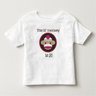 Pink Sock Monkey: Second Birthday Toddler T-shirt