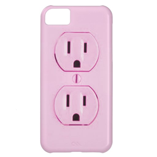 Pink Socket-iphone4 Case For iPhone 5C