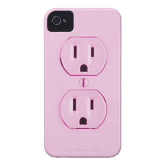 Pink Socket-iphone4 iPhone 4 Cover