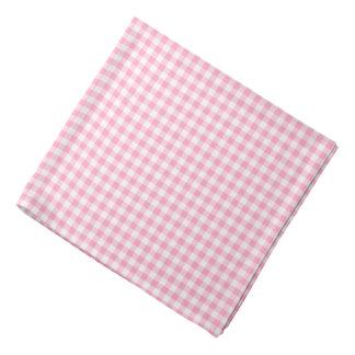 Pink Soda Gingham Check Pattern Dog Bandana