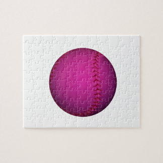 Pink Softball Jigsaw Puzzle