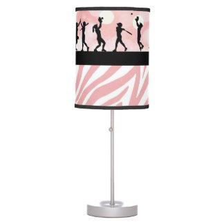 Pink Softball Silhouette Lamp