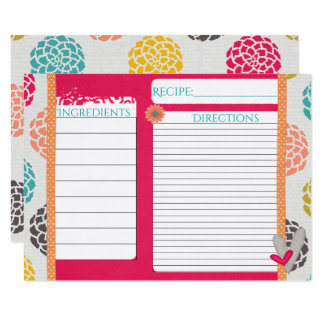 Pink Sorbet Recipe Cards