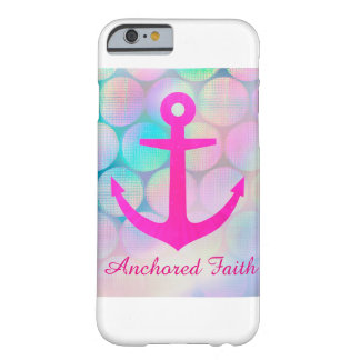 Pink Sparkle Anchored Faith Phone Case