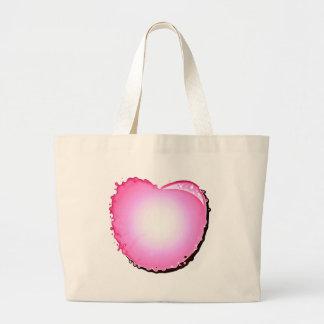 Pink Sparkle Bubble Heart Canvas Bags