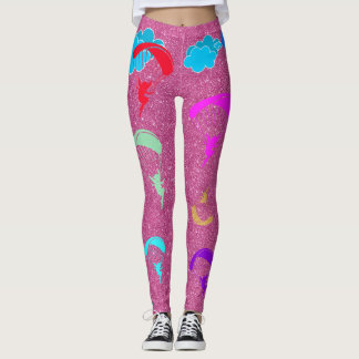 Pink Sparkle Colorful Pixie Leggings