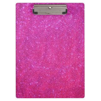 Pink Sparkle Glitter Girly Girl Stuff Clipboard 1