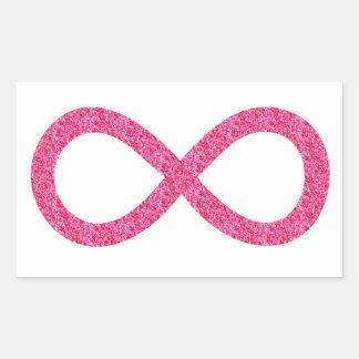 Pink sparkle infinity sticker