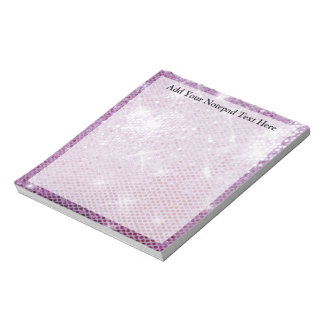 Pink Sparkle-Look Notepad
