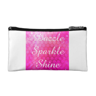 Pink Sparkle Small Cosmetic Bag