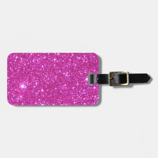 Pink Sparkle Sparkly Glitter Girly Girl Stuff Glam Luggage Tag