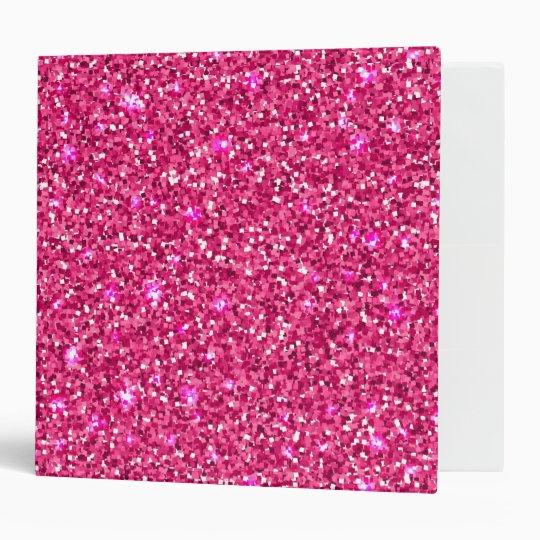 Pink Sparkles Binder