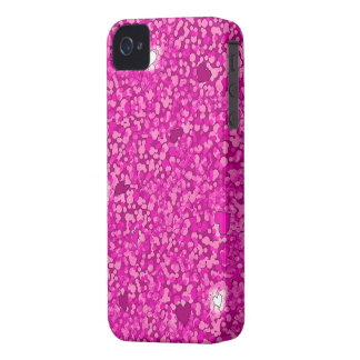 Pink sparkly hearts iphone 4 barely case