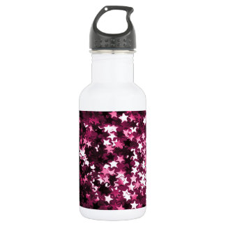 Pink Sparkly Stars 532 Ml Water Bottle
