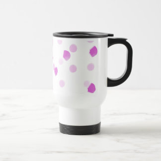 Pink Speckles Stainless Steel Travel Mug