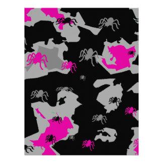 Pink Spider Camo Letterhead