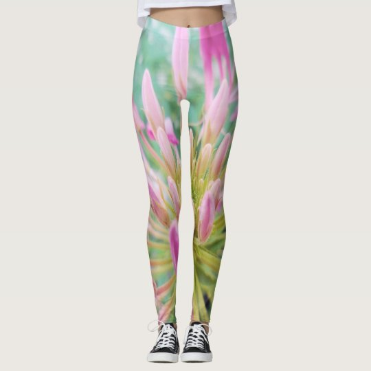 Pink Spider Flower Kpop Aesthetic Leggings