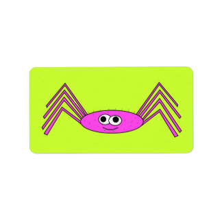 Pink Spider on Label
