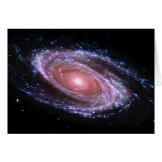 Pink Spiral Galaxy Card