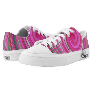 Pink spiral Low-Top sneakers