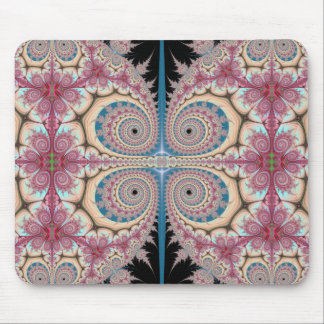 Pink spirals mouse pad