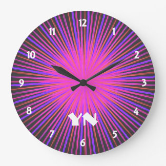 Pink Spirit Circle custom Large Clock