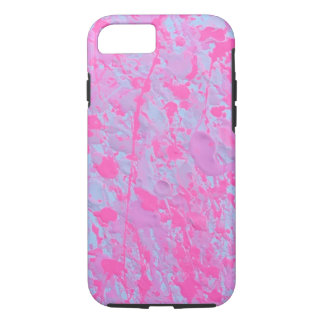Pink splatter paint phone case