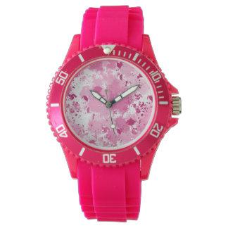 Pink Splatter Watch