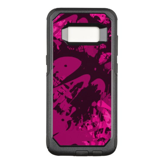Pink Splattered Paint OtterBox Commuter Samsung Galaxy S8 Case