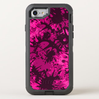 Pink Splattered Paint OtterBox Defender iPhone 7 Case