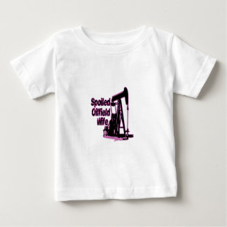 Pink Spoiled Oilfield Wife Baby T-Shirt